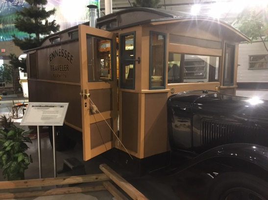 1931 caravan out side